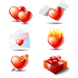 Couple icons set Royalty Free Stock Photo