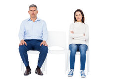 Couple ignoring each other Stock Image
