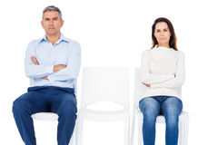 Couple ignoring each other Royalty Free Stock Photography