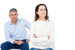 Couple ignoring each other Stock Photos