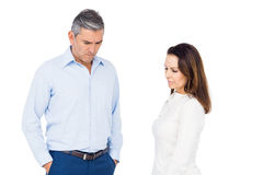 Couple ignoring each other Royalty Free Stock Images