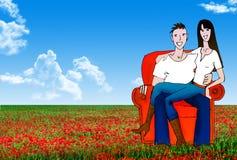 Couple illustration Royalty Free Stock Photo