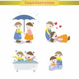 Couple Illustration Royalty Free Stock Photography
