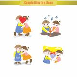 Couple Illustration Royalty Free Stock Photos