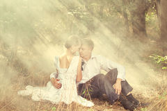 Free Couple In A Forest Royalty Free Stock Photography - 31347947