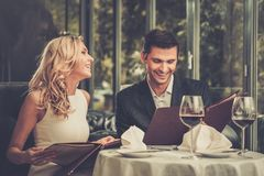 Free Couple In A Restaurant Stock Image - 43071221