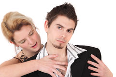 Couple In Action Or Game Royalty Free Stock Photography
