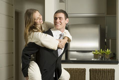 Couple In Kitchen Royalty Free Stock Image