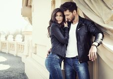 Free Couple In Leather Jacket Stock Image - 126707951