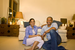 Free Couple In Living Room Royalty Free Stock Image - 7216066