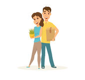 Couple In New Home Royalty Free Stock Photography