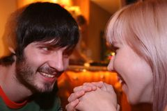 Couple In Night Club Stock Image