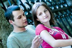 Couple In Park Royalty Free Stock Image