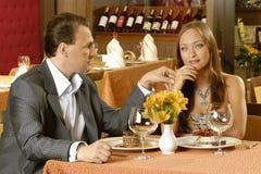 Couple In Restaurant Stock Photos