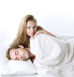 Couple In The Bed Stock Photo
