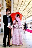Couple In Traditional Turkish Costumes Royalty Free Stock Photography