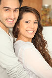 Couple indoors Royalty Free Stock Image