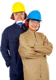 Couple of industrial workers Royalty Free Stock Photography