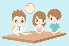 Couple with infertility concept royalty free illustration