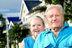 Couple infront of House Royalty Free Stock Photos