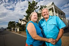 Couple infront of House Royalty Free Stock Images
