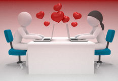 Couple internet chat and love concept Royalty Free Stock Image