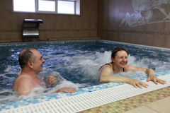 Couple in jacuzzi Royalty Free Stock Photography