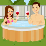 Couple On Jacuzzi Royalty Free Stock Photos