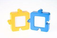 Couple of Jigsaw-Shape Photo Frame Stock Images