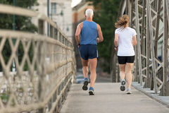 Couple jogging Stock Image