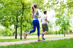 Couple jogging Royalty Free Stock Photo