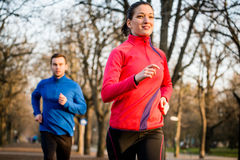 Couple jogging together Stock Image