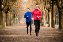 Couple jogging together Royalty Free Stock Photo