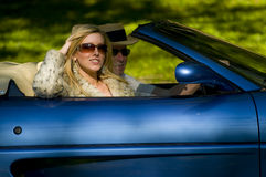 Couple joy ride Stock Photography