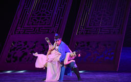 """The couple joy in their marriage-Dance drama """"The Dream of Maritime Silk Road"""". Dance drama """"The Dream of Maritime Silk Road"""" centers on the plot royalty free stock photos"""