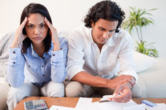 Couple just found out they are broke Royalty Free Stock Photo