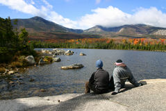 Couple at Katahdin Royalty Free Stock Image