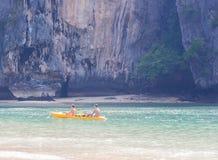 Couple on kayak Royalty Free Stock Image