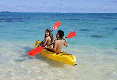 Couple kayaking Royalty Free Stock Image