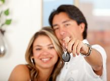 Couple with keys Stock Image