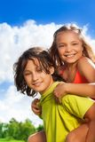 Couple of kids portrait Royalty Free Stock Image