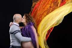 Couple kiss Royalty Free Stock Photos