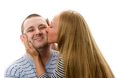 Couple kissing. Royalty Free Stock Images