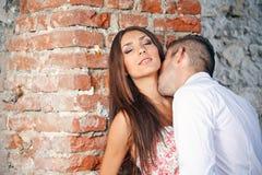 Couple kissing stock image