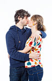Couple kissing. Couple expressing their love and kissing Stock Photo