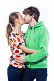Couple kissing Royalty Free Stock Image