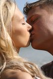 Couple kissing on the beach. Couple kissing on the  beach Stock Images