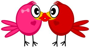 A couple kissing bird Stock Images
