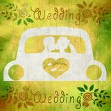Couple kissing in car,marriage Stock Photography