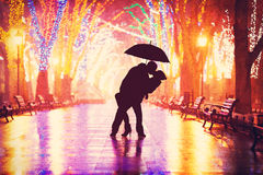 Couple kissing Stock Photos